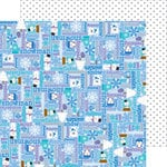 Doodlebug Design - Frosty Friends Collection - Christmas - 12 x 12 Double Sided Paper - Bundled Up
