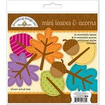 Doodlebug Design - Friendly Forest Collection - Mini Leaves and Acorns Die Cuts