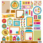 Doodlebug Design - Friendly Forest Collection - 12 x 12 Cardstock Stickers - This and That