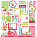 Doodlebug Design - Santa Express Collection - Christmas - 12 x 12 Cardstock Stickers - This and That