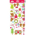 Doodlebug Design - Santa Express Collection - Christmas - Cardstock Stickers - Icons