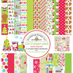 Doodlebug Design - Santa Express Collection - Christmas - 12 x 12 Paper Pack