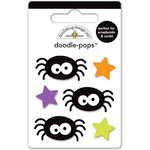 Doodlebug Design - Ghouls and Goodies Collection - Halloween - Doodle-Pops - 3 Dimensional Cardstock Stickers - Mini - Itsy Bity Spiders