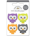 Doodlebug Design - Ghouls and Goodies Collection - Halloween - Doodle-Pops - 3 Dimensional Cardstock Stickers - Mini - Lil' Owls
