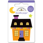 Doodlebug Design - Ghouls and Goodies Collection - Halloween - Doodle-Pops - 3 Dimensional Cardstock Stickers - Mini - Halloween House