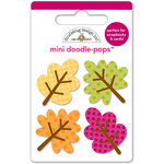 Doodlebug Design - Friendly Forest Collection - Doodle-Pops - 3 Dimensional Cardstock Stickers - Mini - Little Leaves