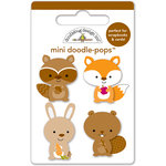 Doodlebug Design - Friendly Forest Collection - Doodle-Pops - 3 Dimensional Cardstock Stickers - Mini - Forest Friends