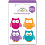 Doodlebug Design - Friendly Forest Collection - Doodle-Pops - 3 Dimensional Cardstock Stickers - Mini - Who's Hoo