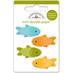 Doodlebug Design - Happy Camper Collection - Doodle-Pops - 3 Dimensional Cardstock Stickers - Mini - Fishies