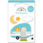 Doodlebug Design - Happy Camper Collection - Doodle-Pops - 3 Dimensional Cardstock Stickers - Mini - Happy Camper