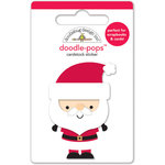 Doodlebug Design - Santa Express Collection - Christmas - Doodle-Pops - 3 Dimensional Cardstock Stickers - St. Nick
