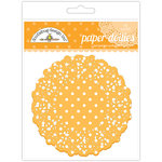 Doodlebug Designs - Paper Doilies - Polka Dot - Tangerine
