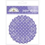 Doodlebug Designs - Paper Doilies - Polka Dot - Lilac