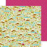 Doodlebug Design - Happy Camper Collection - 12 x 12 Double Sided Paper - Campground