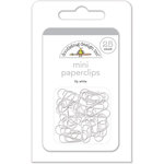 Doodlebug Design - Mini Paperclips - Lily White