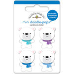 Doodlebug Design - Frosty Friends Collection - Christmas - Doodle-Pops - 3 Dimensional Cardstock Stickers - Polar Bears