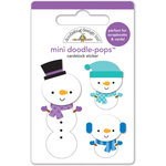 Doodlebug Design - Frosty Friends Collection - Christmas - Doodle-Pops - 3 Dimensional Cardstock Stickers - Frosty Fellows