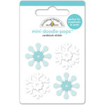 Doodlebug Design - Frosty Friends Collection - Christmas - Doodle-Pops - 3 Dimensional Cardstock Stickers - Snow Crystals