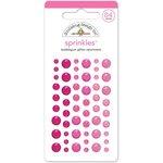 Doodlebug Design - Glitter Sprinkles - Self Adhesive Enamel Dots - Bubblegum
