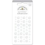 Doodlebug Design - Glitter Sprinkles - Self Adhesive Enamel Dots - Lily White