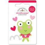 Doodlebug Design - Lovebugs Collection - Doodle-Pops - 3 Dimensional Cardstock Stickers - Leapfrog