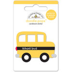Doodlebug Design - Back to School Collection - Doodle-Pops - 3 Dimensional Cardstock Stickers - School Bus