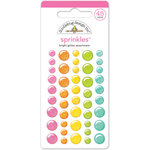 Doodlebug Design - Happy-Go-Lucky Collection - Sprinkles - Self Adhesive Enamel Dots - Bright Glitter