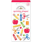 Doodlebug Design - Back to School Collection - Sprinkles - Self Adhesive Enamel Shapes - School