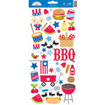 Doodlebug Design - Patriotic Picnic Collection - Cardstock Stickers - Icons