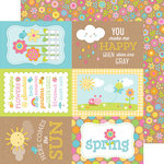 Doodlebug Design - Hello Sunshine Collection - 12 x 12 Double Sided Paper - Springtime Spray