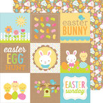 Doodlebug Design - Easter Parade Collection - 12 x 12 Double Sided Paper - Bunny and Friends