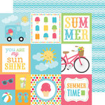 Doodlebug Design - Sun kissed Collection - 12 x 12 Double Sided Paper - Surf's Up