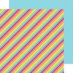 Doodlebug Design - Sun kissed Collection - 12 x 12 Double Sided Paper - Beach Towel Stripe