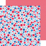 Doodlebug Design - Patriotic Picnic Collection - 12 x 12 Double Sided Paper - Patriotic Parade