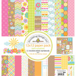 Doodlebug Design - Hello Sunshine Collection - 12 x 12 Paper Pack