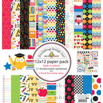 Doodlebug Design - Back to School Collection - 12 x 12 Paper Pack