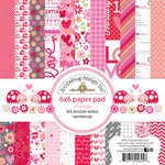 Doodlebug Design - Lovebugs Collection - 6 x 6 Paper Pad