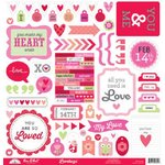Doodlebug Design - Lovebugs Collection - 12 x 12 Cardstock Stickers - This and That