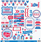 Doodlebug Design - Patriotic Picnic Collection - 12 x 12 Cardstock Stickers - This and That