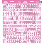 Doodlebug Designs - Cardstock Stickers - Skinny Alphabet - Bubblegum