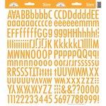 Doodlebug Design - Cardstock Stickers - Skinny Alphabet - Tangerine