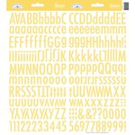 Doodlebug Designs - Cardstock Stickers - Skinny Alphabet - Bumblebee