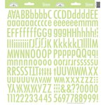 Doodlebug Designs - Cardstock Stickers - Skinny Alphabet - Limeade