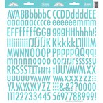 Doodlebug Designs - Cardstock Stickers - Skinny Alphabet - Swimming Pool