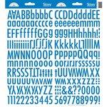 Doodlebug Designs - Cardstock Stickers - Skinny Alphabet - Blue Jean