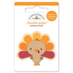 Doodlebug Design - Fall Friends Collection - Doodle-Pops - 3 Dimensional Cardstock Stickers - Gobble Gobble