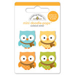Doodlebug Design - Fall Friends Collection - Doodle-Pops - 3 Dimensional Cardstock Stickers - Barn Owls Mini