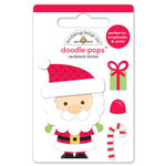 Doodlebug Design - Sugarplums Collection - Christmas - Doodle-Pops - 3 Dimensional Cardstock Stickers - Kris Kringle