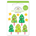 Doodlebug Design - Sugarplums Collection - Christmas - Doodle-Pops - 3 Dimensional Cardstock Stickers - Tiny Trees Mini