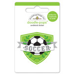 Doodlebug Design - Goal Collection - Doodle-Pops - 3 Dimensional Cardstock Stickers - Goal